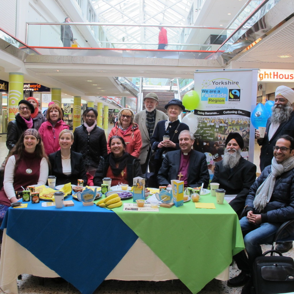 Faith Leaders in Leeds joined together to share a Fairtrade breakfast at the Merrion Centre as part of Fairtrade Fortnight.
